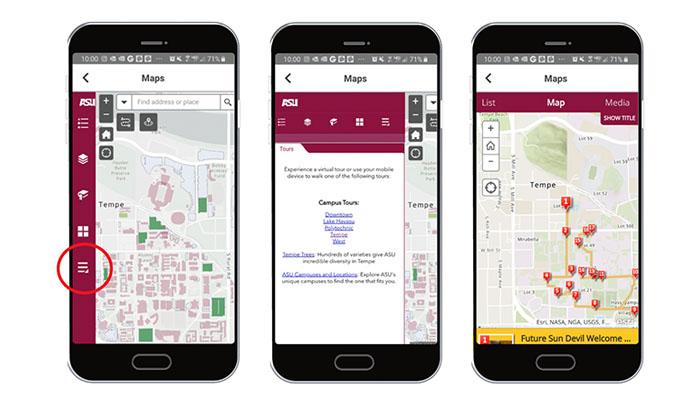 Mobile app campus tour